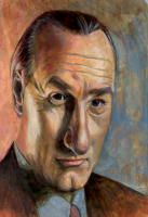 Craig T. Nelson Caricature - Acrylic on board. 2009