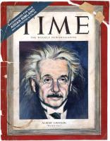 Einstein Time Portrait - Acrylic trompe l' oeil. 2009
